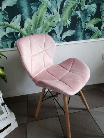 Krzesła skandynawskie velvet welur