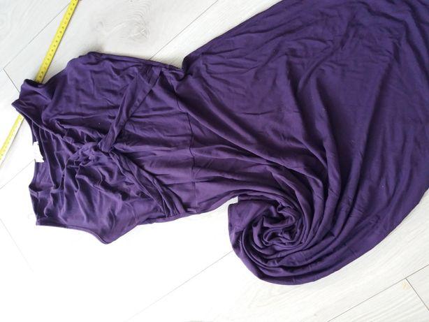 Rozkloszowana sukienka bon prix fioletowa