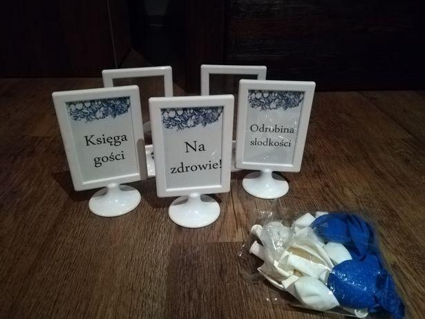 Ramki białe wesele