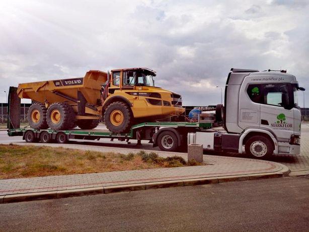 Transport niskopodwoziowy maszyny budowlane konstrukcje stalowe