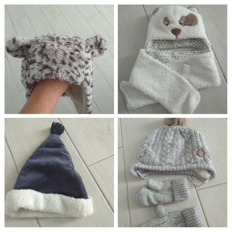 Детская одежда шапочка зимняя бренд GAP H&M Baby club 3-6-12 мес