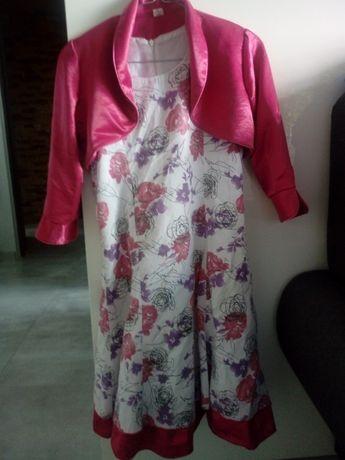 Komplet sukienka i bolerko.roz 140