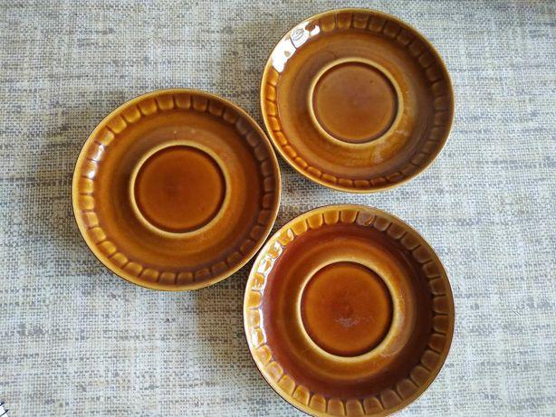 Sprzedam talerzyki brązowe PRL Tułowice antyk porcelana porcelit