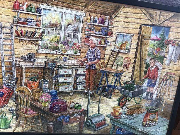 Obraz z puzzli w drewnianej Ramie