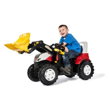 Rolly Toys Traktor rollyFarmtrac Steyr 6300 Terrus CVT z Łyżką na Peda
