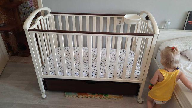 Кроватка верес лд5+матрас