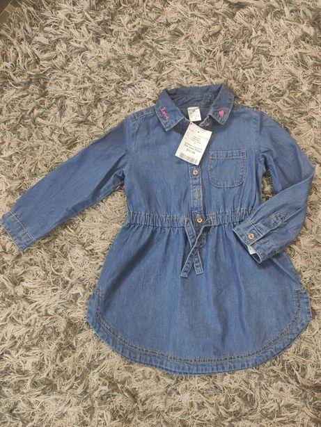НОВОЕ джинсовое платье 92_98 р.на два три года Carter's