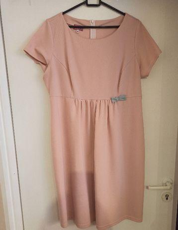 Sukienka ciążowa XL firmy Haloo jasnoróżowa