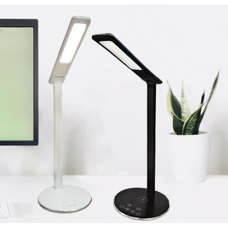 Настольная LED лампа с беспроводной зарядкой