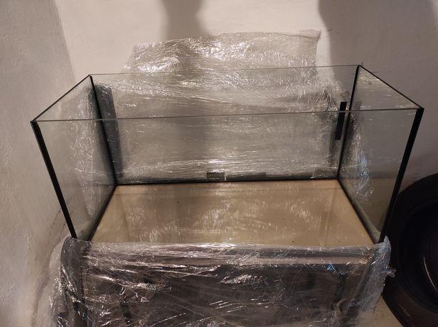 Akwarium 112 litrów, 80 cm x 40 cm x 35 cm ze stolikiem z kątowników