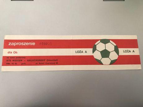 Bilet wstępu Widzew - Galatasaray 1985