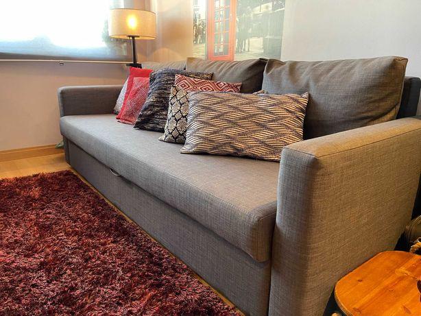 Sofá-cama de 3 lugares Cinza esc IKEA