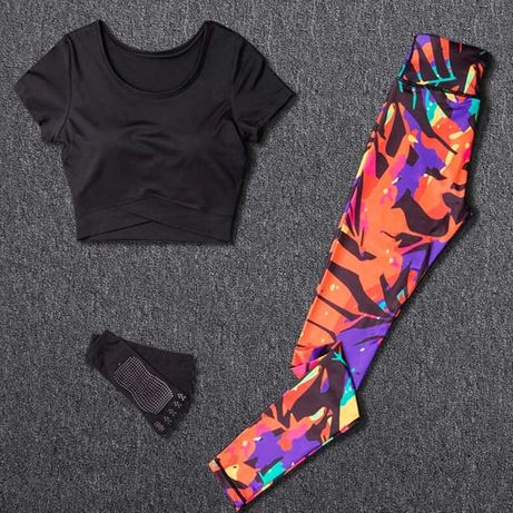 Стильный костюм Комплект для фитнеса Йоги Тренировок