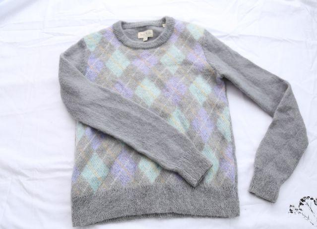 JACK WILLIS sweter wełna / moher rozmiar XS