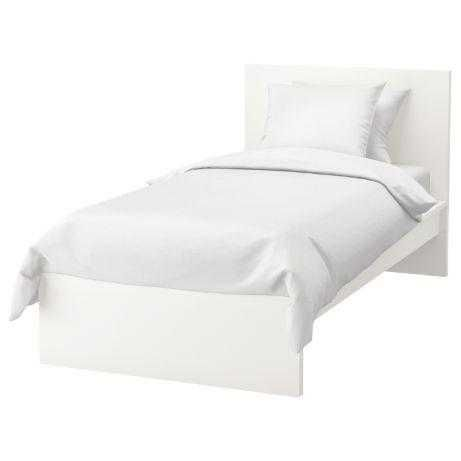 Cama IKEA malm 90x200 como NOVA (embrulhada) com colchão + cómoda
