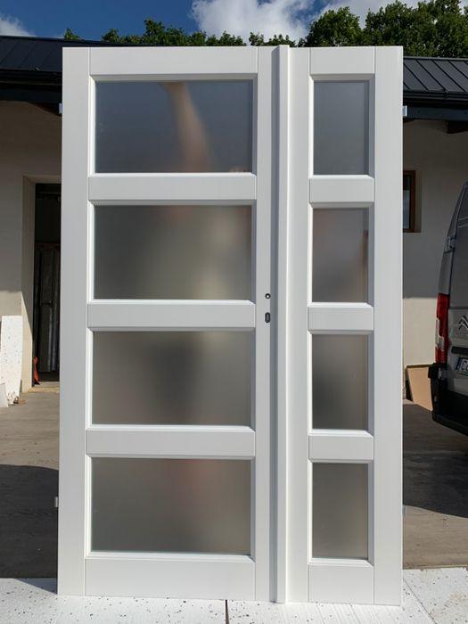 DRZWI dwuskrzydłowe białe 128cm x 205cm i inne Grzybno - image 1