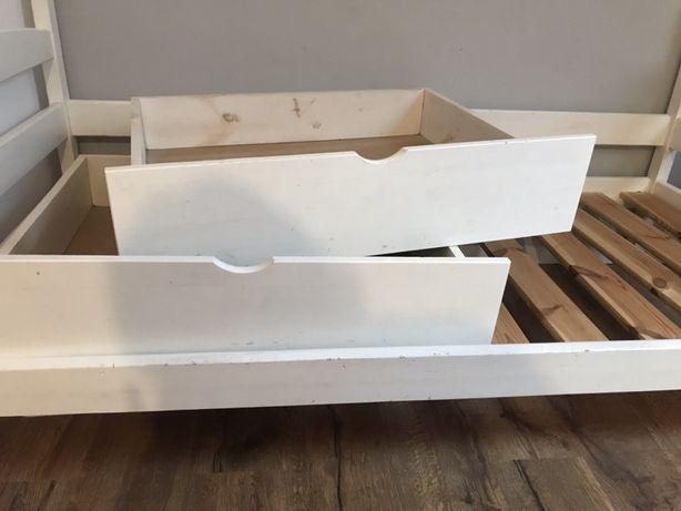 Szuflady pod łóżko sosnowe na kolkach 2 szt