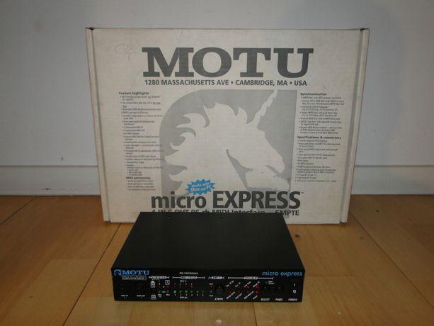 Zawodowy Interfejs MIDI MOTU MICRO EXPRESS.Nówka.Okazja.