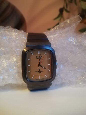 Citizen zegarek unisex wodoszczelny Japan zolta złota tarcza