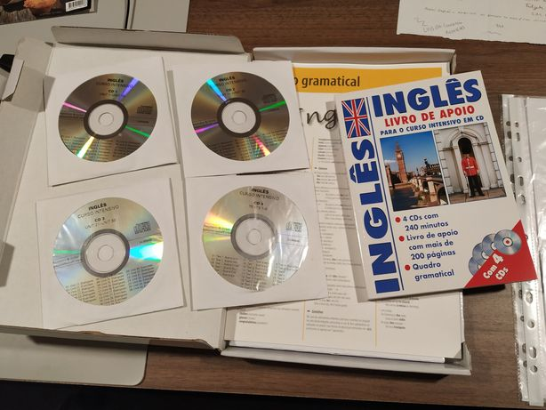 Curso de inglês manuais e cds