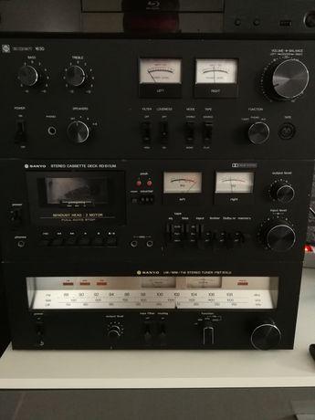 Wieża Sanyo Expert vintage hi-fi wzmacniacz tuner deck