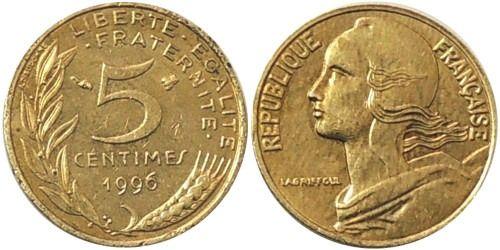 Монеты Франции 5 ,10,20 сантимов , Евро номинал 1, 2