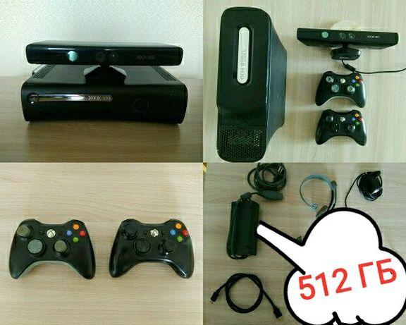 512 Гб Xbox 360 Freeboot + 2 джойстика, прошит