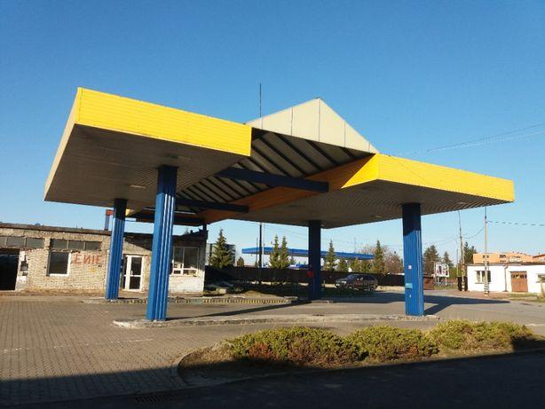 Wiata, Dach, Zadaszenie stacji paliw, stalowa konstrukcja 16m/13m/5m