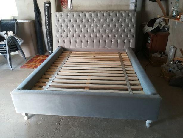 ŁÓŻKO CHESTERFIELD, łóżko sypialniane stylowe, profilowany zagłówek