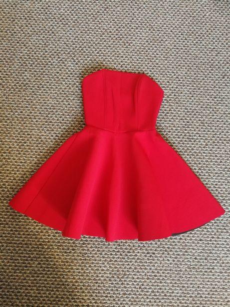 Piankowa sukienka rozmiar S