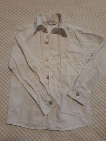 Рубашка белая лёгкий хлопок 110 см