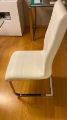 6 cadeiras em metal com estofo em sintético