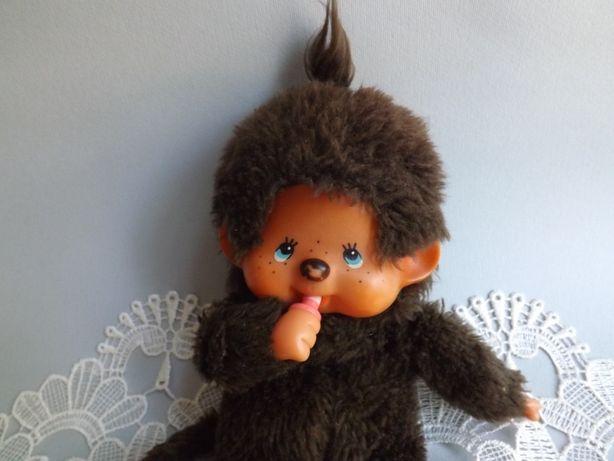 Игрушка обезьянка с соской Sekiguchi Futagonomonchhichi, винтаж 1974