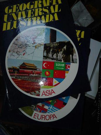 Coleções sobre ciência, história e geografia