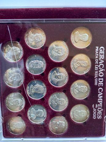 Medalhas Geração de ouro jogadores de futebol.
