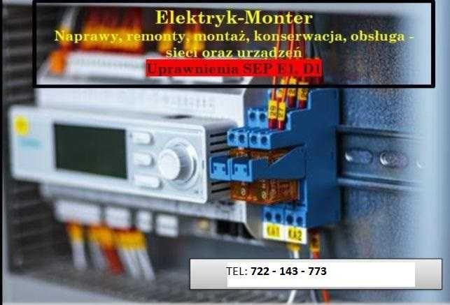Elektryk - usługi elektryczne i teletechniczne. Awarie. Odbiory