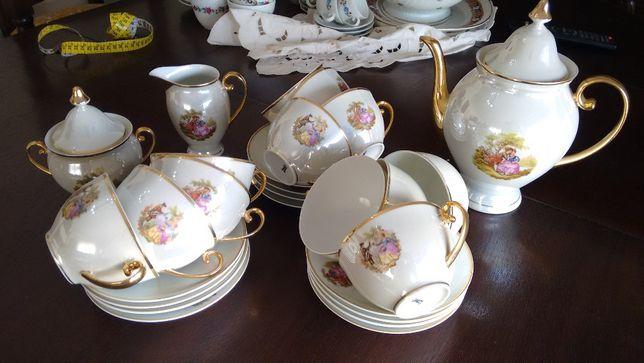 Serviço de chá e serviço de café antigos como novos da SPAL