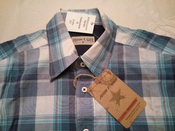 nowa męska koszula *bluzka w kratę * John F. Gee