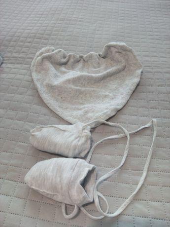 Rekawiczki dziecięce + szalik/chustka zimowe ocieplane