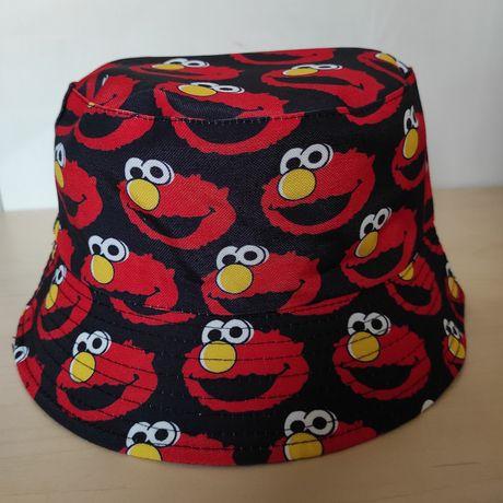 Dwustronny bucket hat kapelusz czapka rybaczka elmo ulica sezamkowa