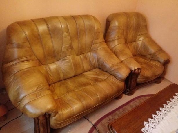 Fotel kanapa skóropodobna 3+2+1