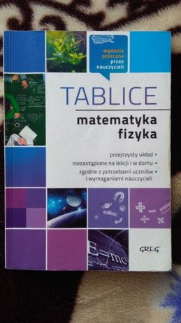 Tablice. Matematyka i fizyka