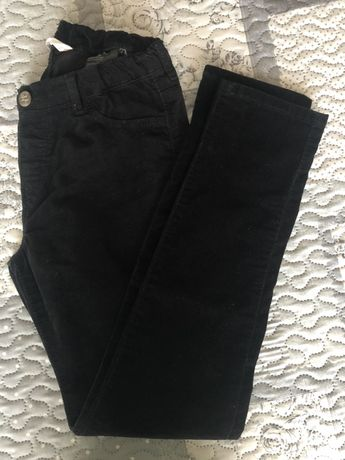 Calças menina veludo preto H&M 9-10 anos