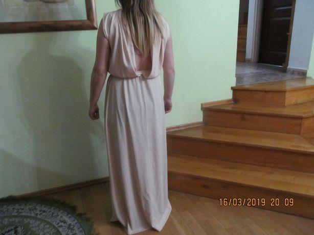 Sukienka H&M, kolor łososiowy, długa, rozm. 36, SUPER!