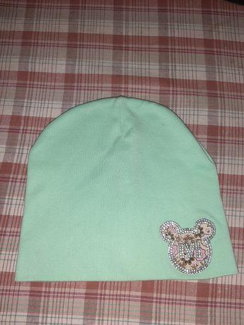 Весенняя шапочка на девочку, 52 см