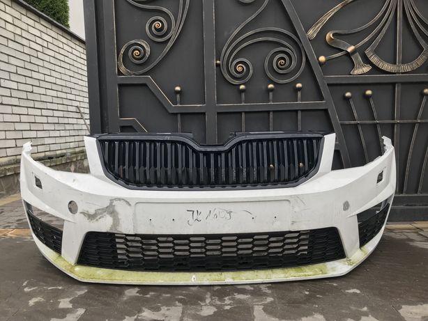 Передній бампер Skoda Octavia A7 RS(Шкода,Октавия,Октавія А7 Рс)