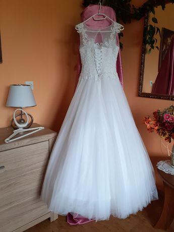 Suknia ślubna rozmiar 36 plus bolerko