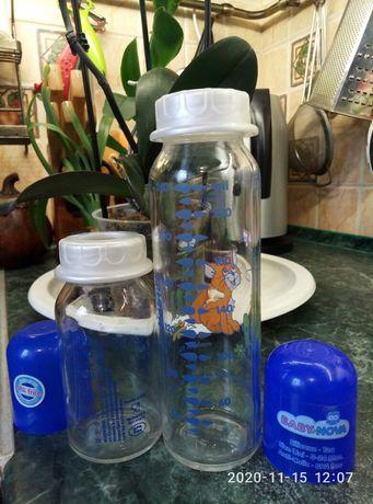 Набор бутылочек для кормления.Стекло.