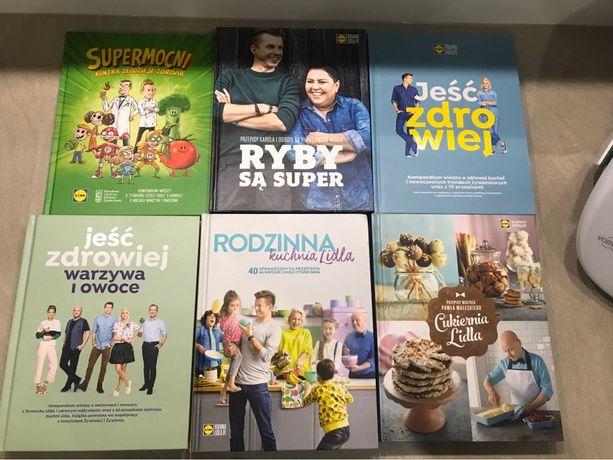 Zestaw 6 książek lidl kuchnia lidla