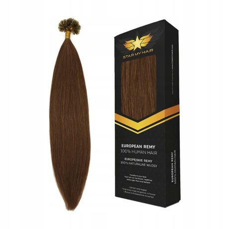 Pasemka Keratna Ringi włosy naturalne europejskie 50cm 20x0,7